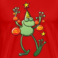 Christmas Decorations for a Frog T-Shirts