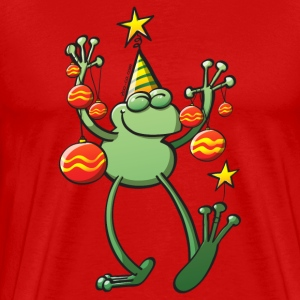 Christmas Decorations for a Frog T-Shirts - Men's Premium T-Shirt