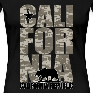 California Digital Camouflage - Women's Premium T-Shirt
