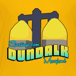 greetings from dundalk maryland kids tee - Kids' Premium T-Shirt