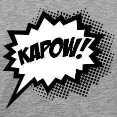 Comic KAPOW!, Super Hero, Cartoon, Bubble, Boom,  T-Shirts