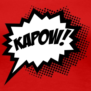 Comic KAPOW!, Super Hero, Cartoon, Bubble, Boom,  Women's T-Shirts - Women's Premium T-Shirt