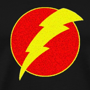 super, superhero, retro, lightning, bolt,  - Men's Premium T-Shirt