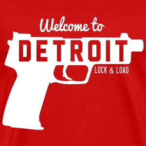 Welcome to Detroit. Lock and Load T-Shirts - Men's Premium T-Shirt
