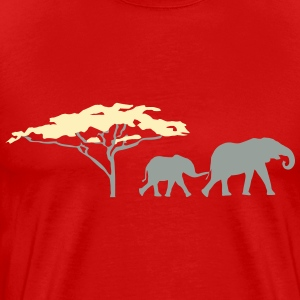 Elephants in the savannah Shirt - Men's Premium T-Shirt