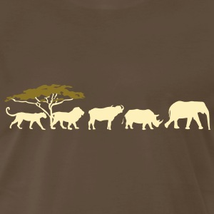Big Five in the savannah Shirt - Men's Premium T-Shirt