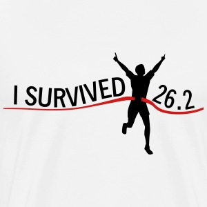 I Survived 26.2 T-Shirts - Men's Premium T-Shirt