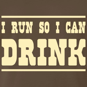 I Run So I Can Drink T-Shirts - Men's Premium T-Shirt