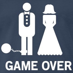 Wedding. Game Over Ball and Chain T-Shirts - Men's Premium T-Shirt