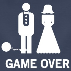 Wedding. Game Over Ball and Chain Women's T-Shirts