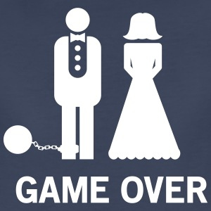 Wedding. Game Over Ball and Chain Women's T-Shirts - Women's Premium T-Shirt
