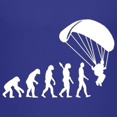 Evolution Parachute jumping Kids' Shirts