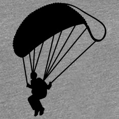 Parachute jumping Women's T-Shirts