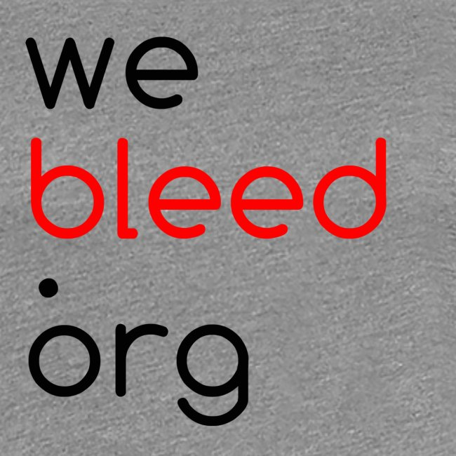 webleed.org logo t-shirt