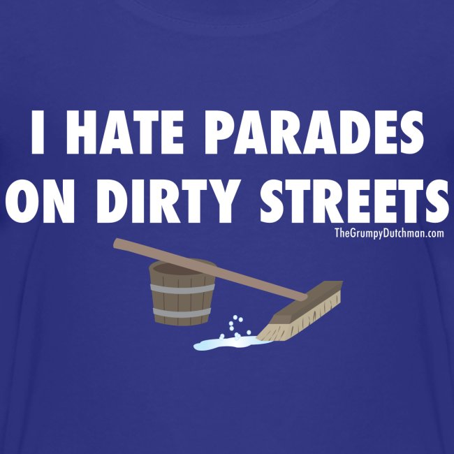 Parades (with white lettering for dark shirts)