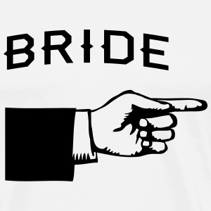 Bride Hand Pointing Right T-Shirts - Men's Premium T-Shirt
