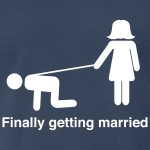 Finally Getting Married Leash T-Shirts - Men's Premium T-Shirt