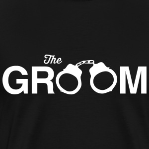 The Groom Handcuffs T-Shirts - Men's Premium T-Shirt