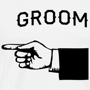 Groom Hand Pointing Left T-Shirts - Men's Premium T-Shirt
