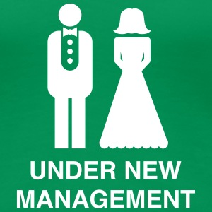 Bride/Groom Under New Management Women's T-Shirts - Women's Premium T-Shirt