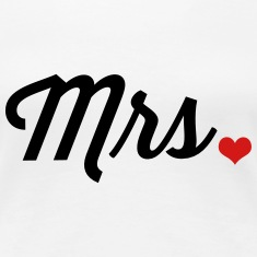 Mrs. Heart Women's T-Shirts