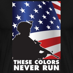USA PATRIOT 1 - THESE COLORS NEVER RUN - Men's Premium T-Shirt
