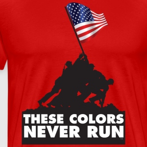 USA PATRIOT - THESE COLORS NEVER RUN T-Shirts - Men's Premium T-Shirt