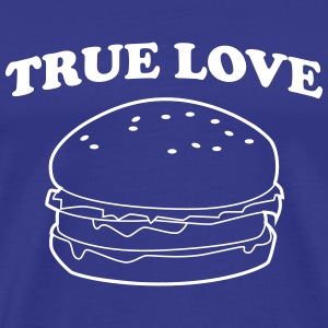 True Love Hamburger T-Shirts - Men's Premium T-Shirt