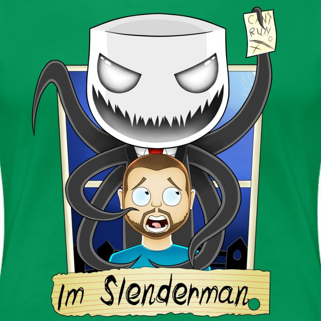 Chilled is Slenderman (Womans T-Shirt)