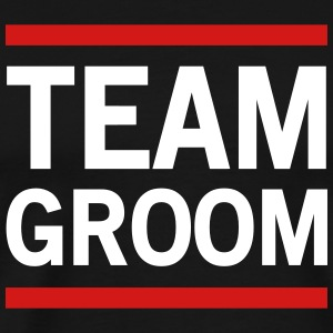 Team Groom Lined T-Shirts - Men's Premium T-Shirt