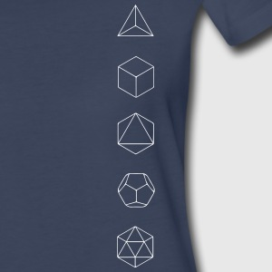 Platonic Solids, Sacred Geometry, Evolution Women's T-Shirts - Women's Premium T-Shirt