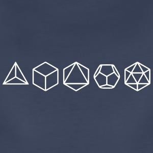 Platonic Solids, Sacred Geometry, Mathematics Women's T-Shirts - Women's Premium T-Shirt