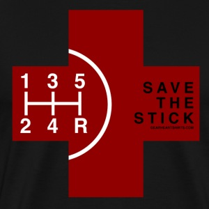 Save the Stick - Red Cross - 5 Speed T-Shirts - Men's Premium T-Shirt