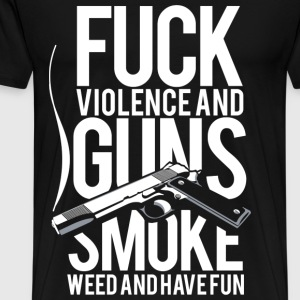 Violence & Guns - Men's Premium T-Shirt