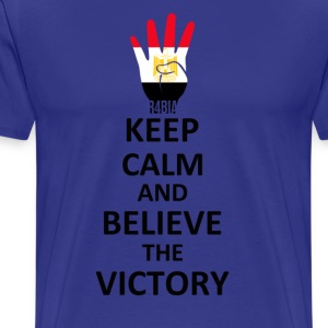 Keep Calm Belive the Victory T-Shirts - Men's Premium T-Shirt