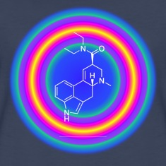 LSD molecule blue drop Women's T-Shirts