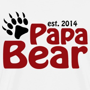 Papa Bear New Dad 2014 T-Shirts - Men's Premium T-Shirt