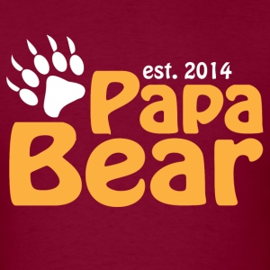 Papa Bear New Dad 2014 T-Shirts - Men's T-Shirt