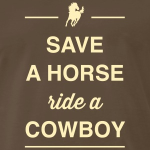 Save a Horse, Ride a Cowboy T-Shirts - Men's Premium T-Shirt