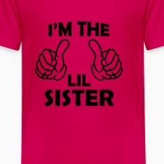 i'm the lil sister Kids' Shirts