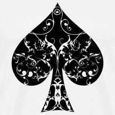 Ace of Spade floral tribal spades poker hold ´em T-Shirts