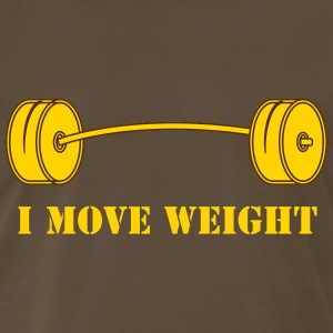 I move weight - Men's Premium T-Shirt