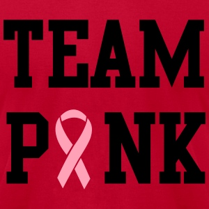 Team Pink Breast Cancer Awareness T-Shirts - Men's T-Shirt by American Apparel