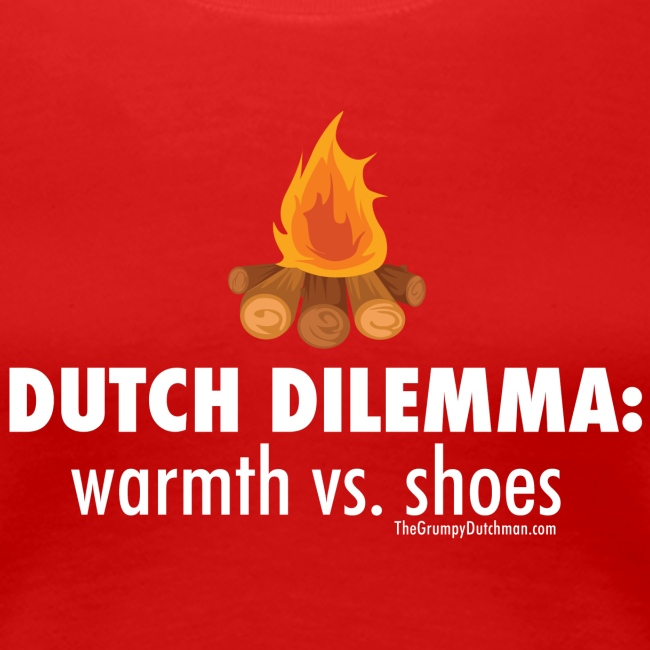 Dutch Dilemma (with white lettering for darker shirts)