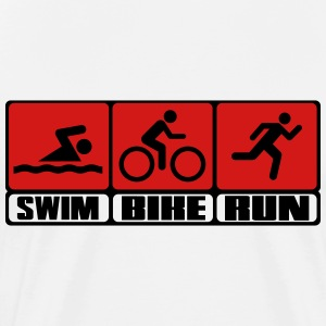 Triathlon - Swim, Bike, Run T-Shirts - Men's Premium T-Shirt