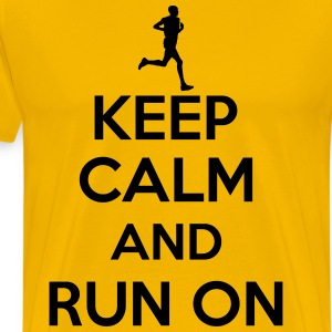 Keep calm and run on T-Shirts - Men's Premium T-Shirt