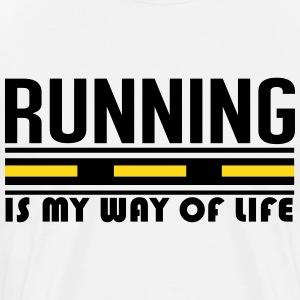 running is my way of life T-Shirts - Men's Premium T-Shirt