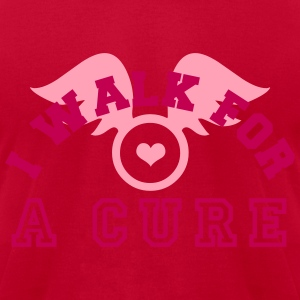 I walk for a cure T-Shirts - Men's T-Shirt by American Apparel