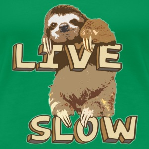 Funny Sloth - LIVE SLOW - Women's Premium T-Shirt