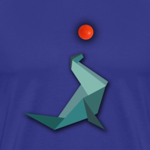 Origami Seal with water polo T-Shirts - Men's Premium T-Shirt